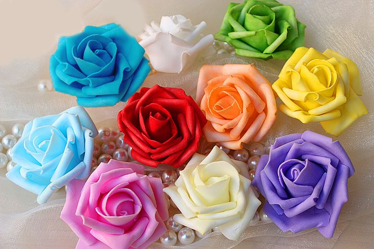 3 шт. искусственные цветы выросли на свадьбу EVA пены DIY волос украшения Hearwear -