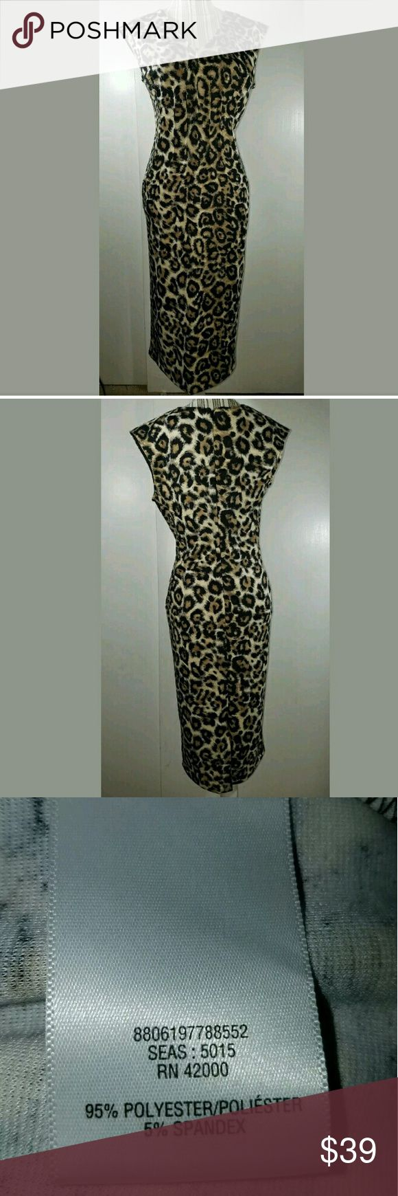Jaclyn Smith Collection Midi Animal Print Dress Women's Jaclyn Smith Collection Midi Animal Print Cap Sleeve Dress Medium  Excellent used condition.  No holes or stains.  18.5 inches pit to pit. 44.5 inches long.  LB Jaclyn Smith Dresses Midi