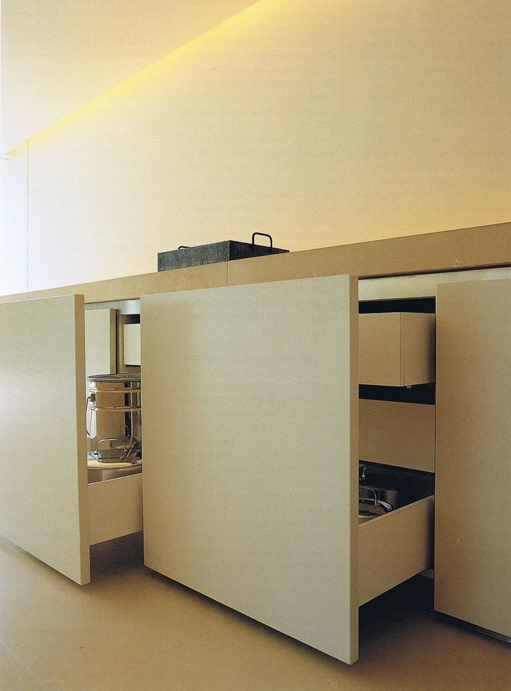 Large front covering multiple drawers creating a calm and minimal look inside…
