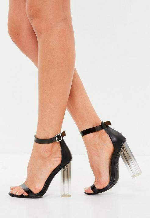 efb12bb3c7c4 ... shoes from Missguided. Missguided Black Block Clear Sandals
