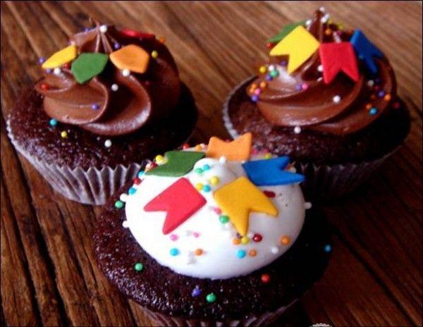 Cupcake de Festa Junina