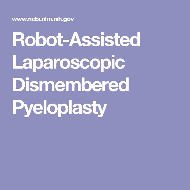 Robot-Assisted Laparoscopic Dismembered Pyeloplasty