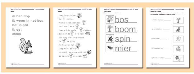 Voor kinderen in groep 2 en 3 die hun eerste stappen bij het lezen gaan zetten. Download nu 23 pagina's lesmateriaal: Themalezen 'Bos'. Een pakketje met gevarieerde lees- en werkbladen rondom het thema 'Bos.'  http://onderwijsstudio.nl/product/themalezen-bos-download/
