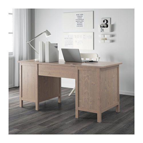 ХЕМНЭС Письменный стол - серо-коричневый - IKEA