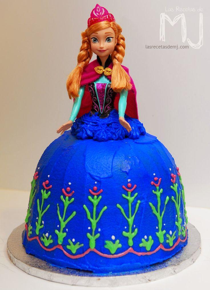 Tarta Anna de Frozen / Anna of Frozen cake