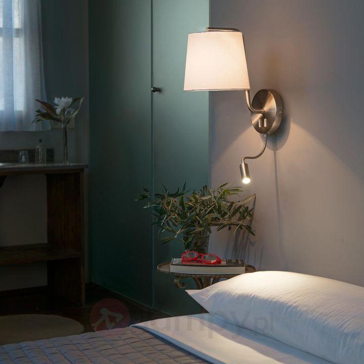 Materiałowa lampa ścienna Berni z lampką do czyt. 3507180