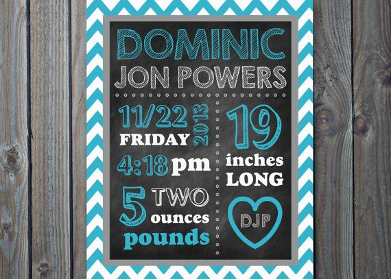 17 Best images about Birth Announcement Chalkboard Poster on – Chalkboard Birth Announcement