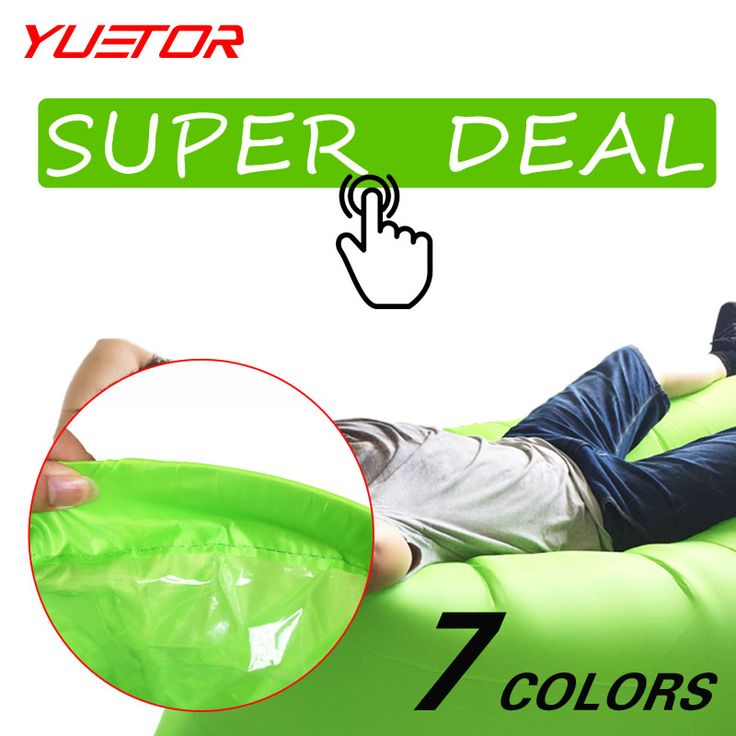Marca Yuetor rápida inflable tumbona aire dormir camping sofá lazy bag laybag hangout portable recorrido que acampa al aire libre