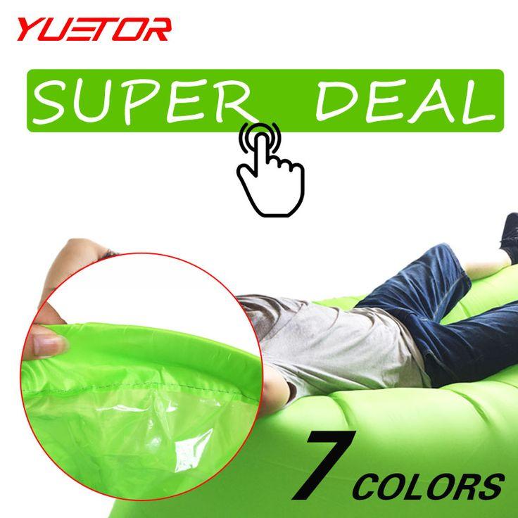 Merek Yuetor cepat inflatable lounger tidur berkemah sofa udara portabel berkemah tas travel luar malas laybag hangout