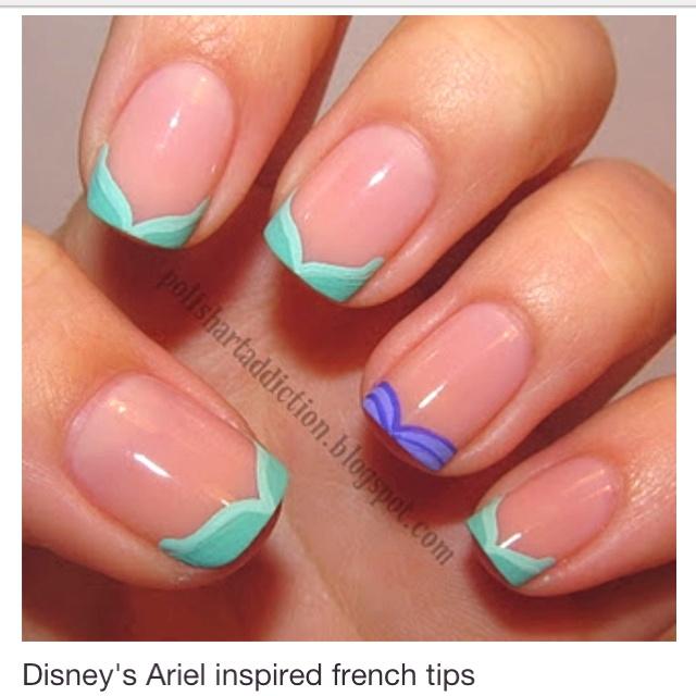 Mermaid Nail Art Adorable: The Little Mermaid Nails