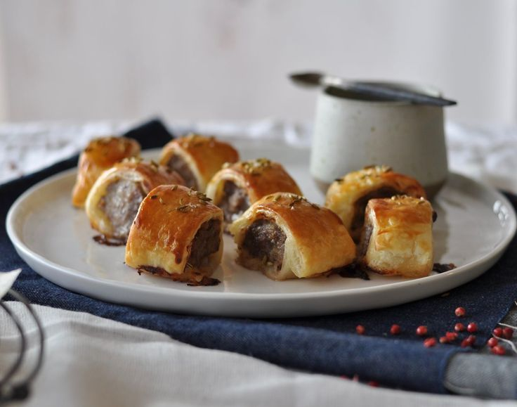 Pork and Fennel Sausage Rolls with Cabernet Barbecue Sauce - Maggie Beer
