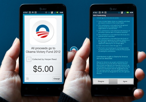 Obama is using a custom build of Square to streamline donations for this upcoming election