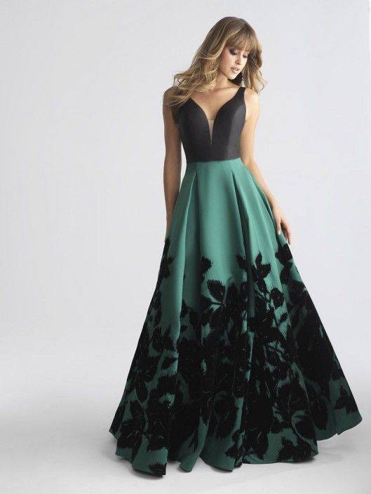 Madison James 18 681 Floral Mikado Prom Dress Trends Of 2018
