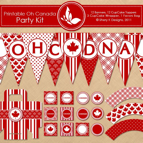 Printable OH CANADA Party Kit