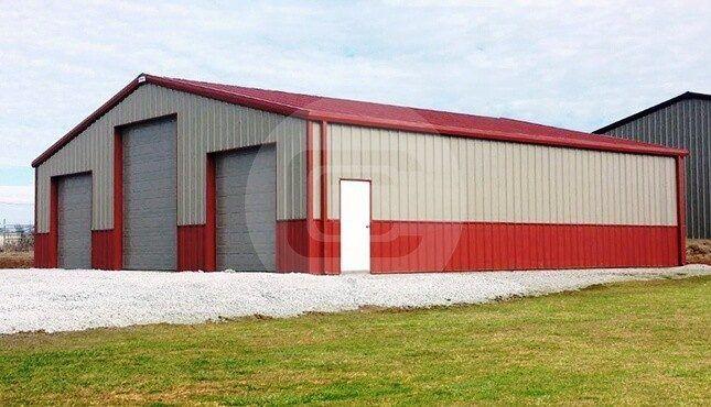 40x40 Prefab Garage Commercial Garage Building Prefab Garages Metal Building Homes Metal Buildings