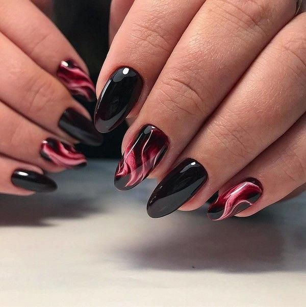 HALLOWEEN NAIL ART: EVIL RED OR CHIC BLACK? (With images ...