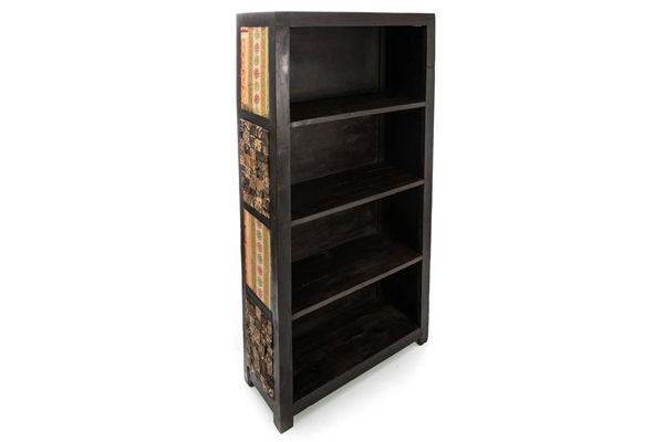 Casa Uno WooDed BookShelf Bookcase Display Cabinet Unit Brown/Natural - NEW