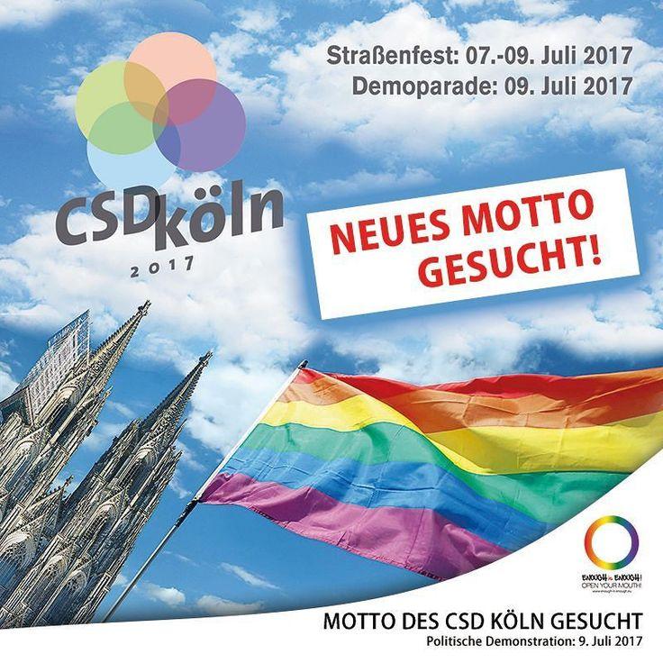 """#MottoGesucht!!!   EURE IDEEN SIND GEFRAGT!  Der CSD Köln findet wie geplant statt! Auch das 3-tägige Straßenfest wird wieder tausende Besucherinnen anziehen. Doch der Name """"ColognePride"""" sowie das Motto """"Nie wieder!"""" kann leider nicht übernommen werden [EiE berichtete-1]. Ein Bündnis aus der Szene übernimmt nun die Verantwortung für das Straßenfest. Auch die politische Demonstration wird wie geplant umgesetzt. Gesucht wird Unterstützung von allen Seiten  und ein neues Motto! Darüber wird…"""
