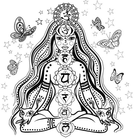 chakra symbols coloring pages - photo#1