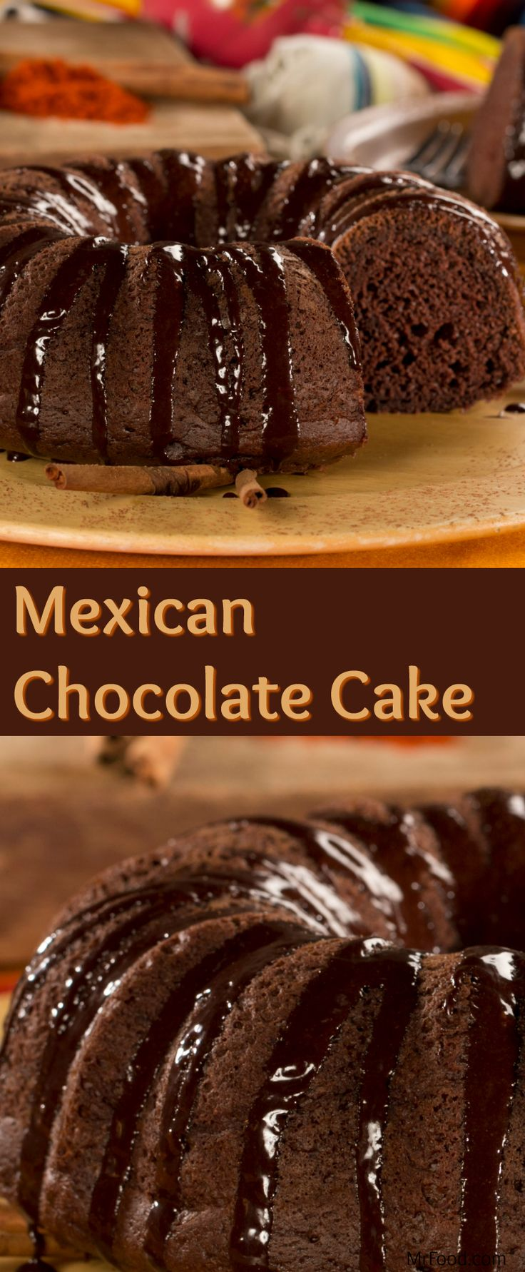Add a kick to delicious chocolate cake by making our recipe for Mexican Chocolate Cake. Start with a boxed cake mix and add cinnamon and cayenne pepper for a perfectly sweet and spiced chocolate cake. This may very well become one of your new favorite chocolate desserts recipes!
