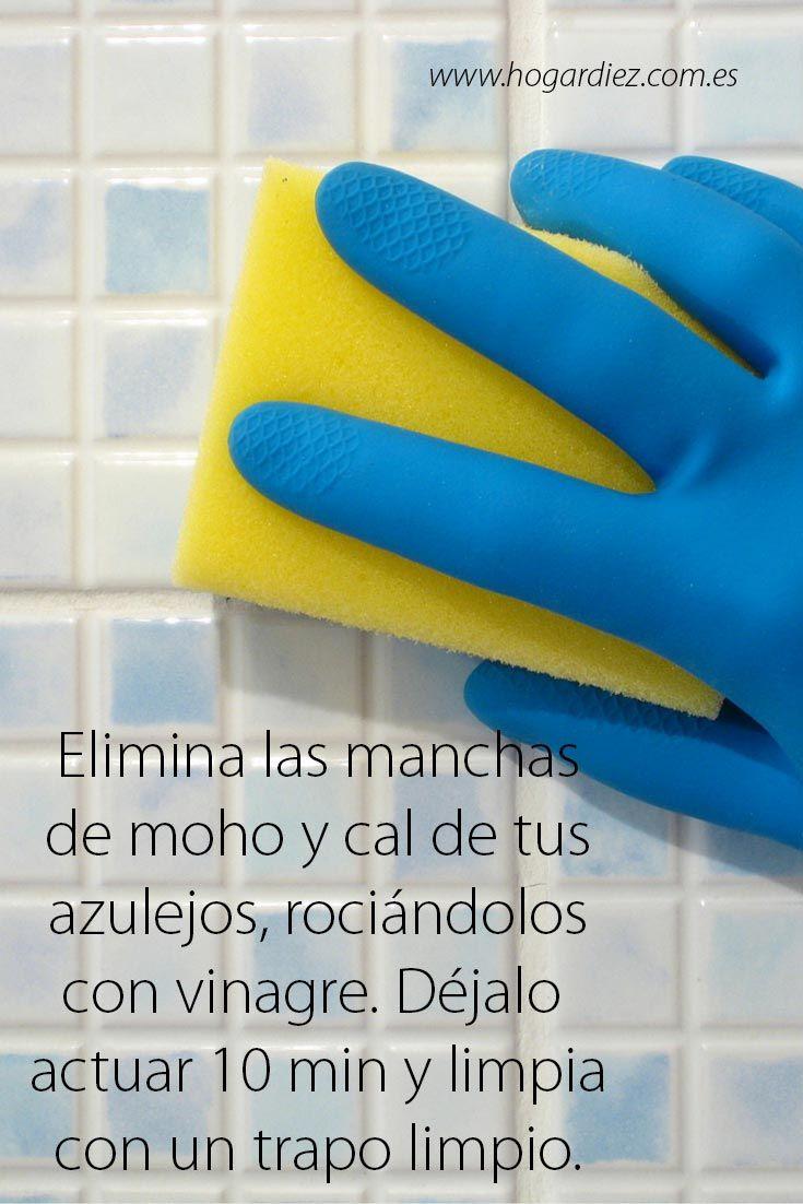 Eliminar cal y moho de los azulejos