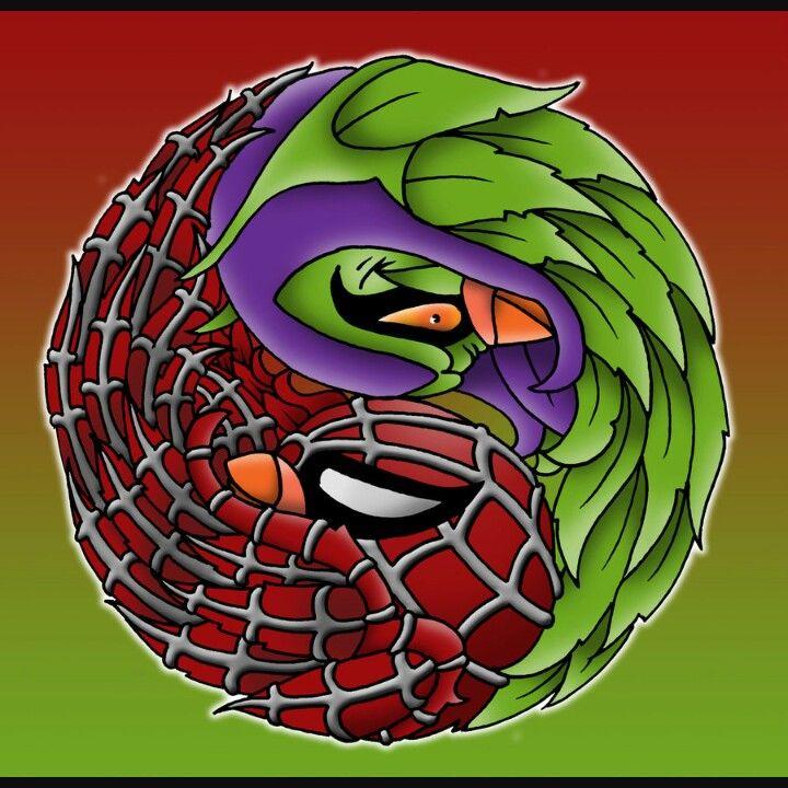 Spiderman yin yang design