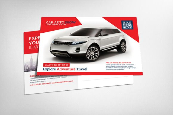 Rent A Car Business Postcard by Party Flyers on @creativework247