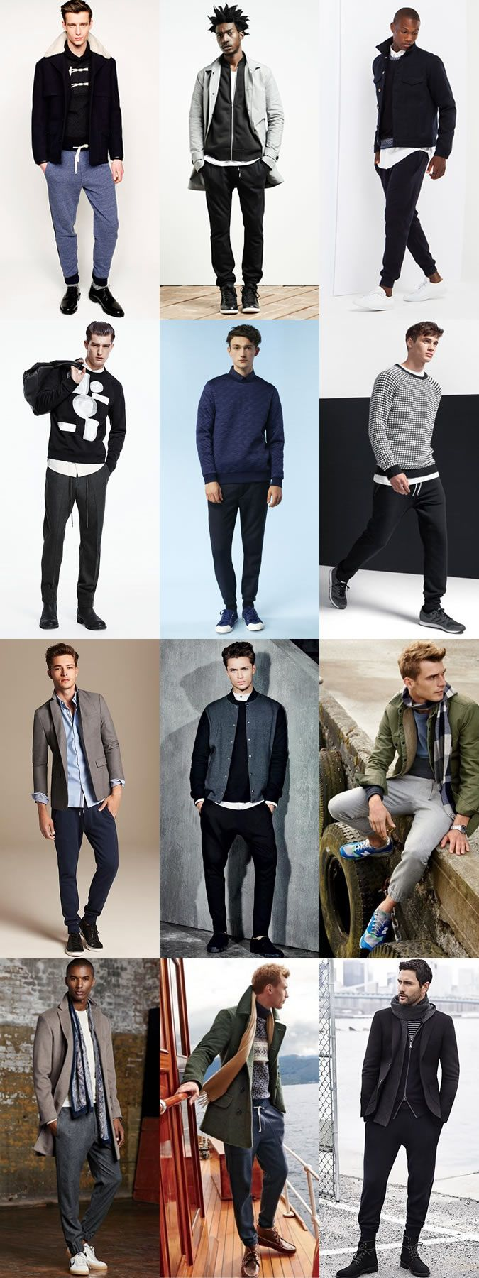 Men's Slim-Cut Jogging Bottoms - Transitional Outfit Inspiration Lookbook