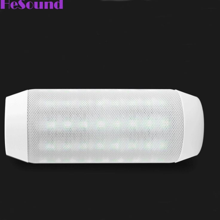 HeSound(TM) Wireless Bluetooth Portable Speaker with Dynamic LED Lights and HD Sound - White. Rich, LOUD and Crystal Clear HD stereo sound is delivered from 2 high quality drivers. Blue LED aperture navigation; Bluetooth high-definition calls; Support FM radio, TF Card, Bluetooth and line-in mode; Built-in Microphone for hands-free. 5 hours of play and LED light effects on a single charge. 3.5mm Audio Input Support FM Radio, TF Card, Audio and Video Remote Control - Compatible with…