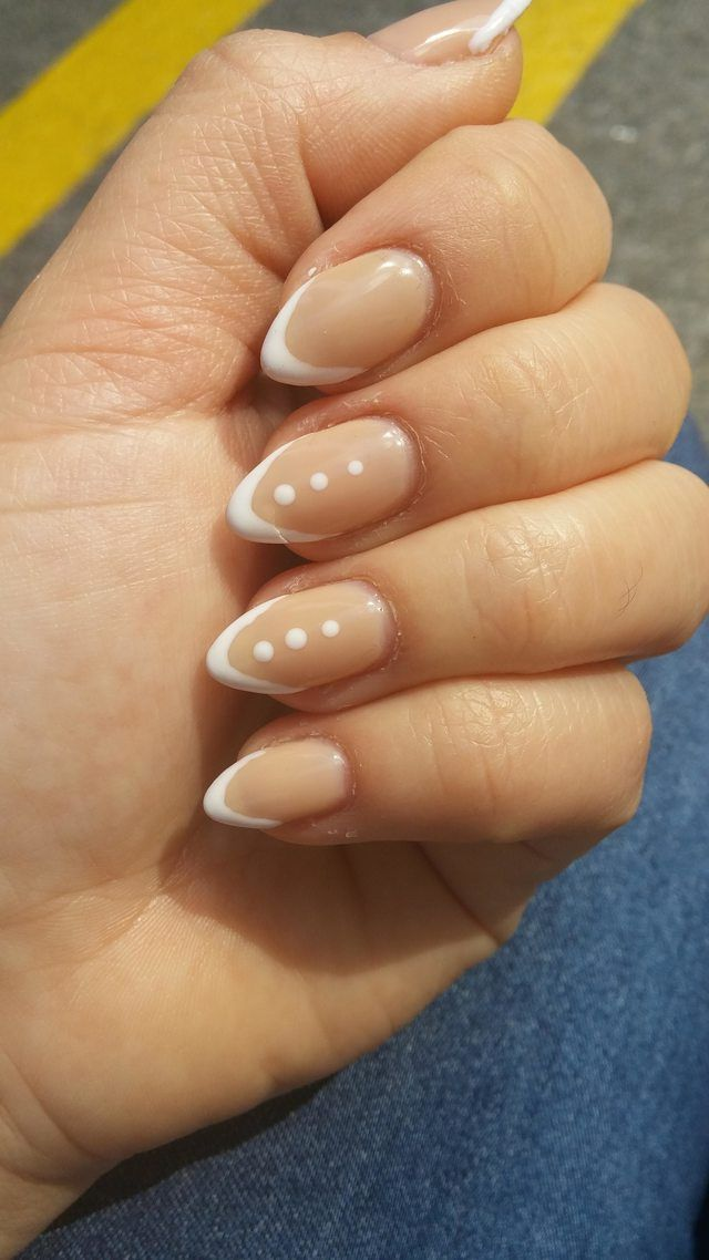 Skinny white tips on Samoan Sand :) .. And there's a crack on my middle nail :( - Imgur
