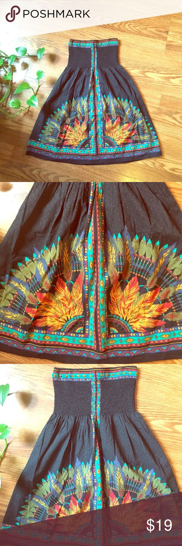 Size S Long Strapless Tribal Print Top Size Small, long Strapless Top. Tribal print with elastic around the bust line for an easy fit Forever 21 Tops Blouses