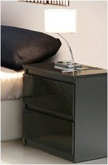 LAUREL Black Gloss or White Gloss Bedside Table