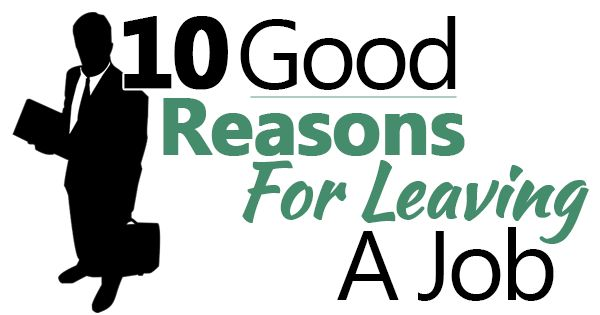"We answer the interview question ""Why did you leave your last job?"" and give you 10 reasons for leaving a job (to tell your boss or put on an application)."