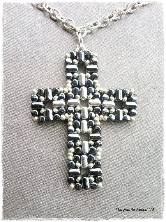 17 best images about on pinterest cars posts and beaded laudomia cross pendant pdf tutorial with rulla beads aloadofball Choice Image