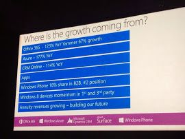Where's the growth coming from? - #office365 #raona #technology #tecnologia #azure #microsoft #wpc14 #crm #windows8