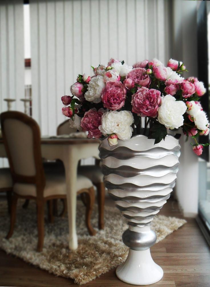 8 best images about Jarrones con flores artificiales on Pinterest