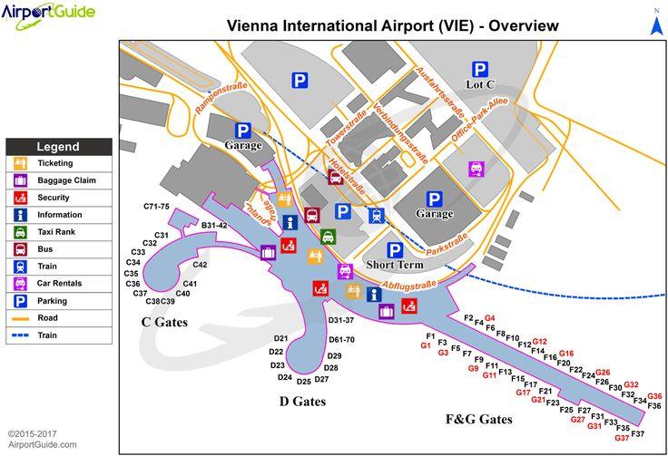 Vienna Vienna International Vie Airport Terminal Map Overview Airport Map Vienna Airport Map