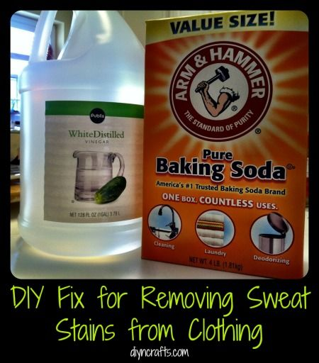 Dissolve a couple of Alka Seltzer tablets in warm water. Use a bowl large enough to fit the shirt and pop it in for 15-20 minutes. Or, cover the stained area with white vinegar, rub it in, apply 1/4 part water, 3/4 part baking soda directly to the stain. Wait a few hours or overnight. Wash as usual but add an extra 1/2 cup of baking soda.