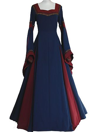 Elegant medieval dress-just needs some jewelry from camelotcollection.weebly.com!