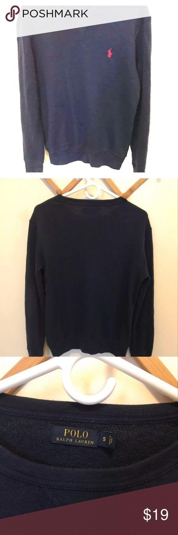 Polo Ralph Lauren Sweatshirt Navy blue terry sweatshirt. Polo by Ralph Lauren Sweaters Crew & Scoop Necks