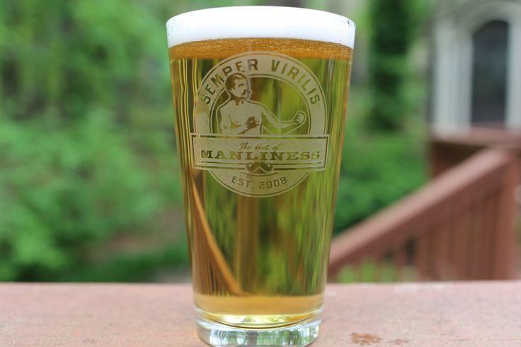 Art of Manliness Pint Glass