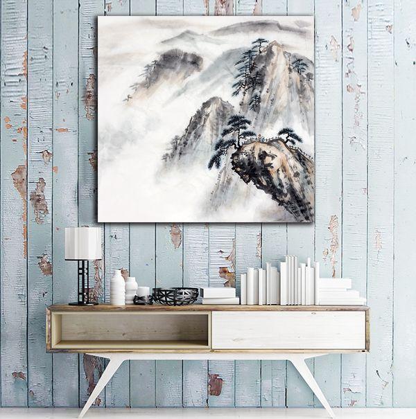 Διακόσμηση με Πίνακες σε καμβά #digiwall από την κατηγορία ΤΕΧΝΗ : Ασιατικά βουνά