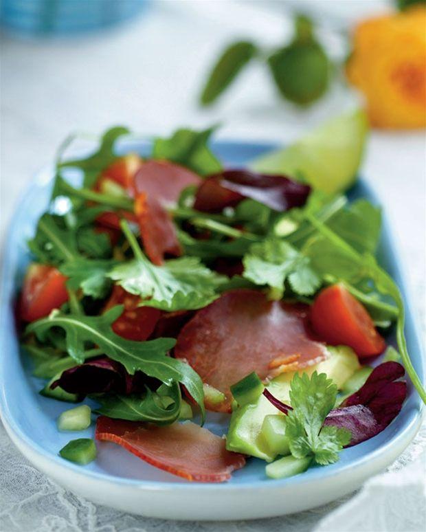 Røget mørbrad med salat