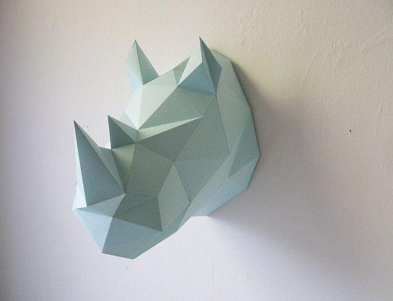Rinoceronte de papel plegable Kit