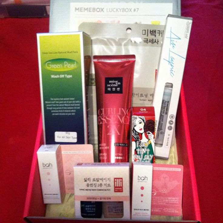 The Glitter Chic: #Memebox Luckybox 7 #Unboxing & #Review