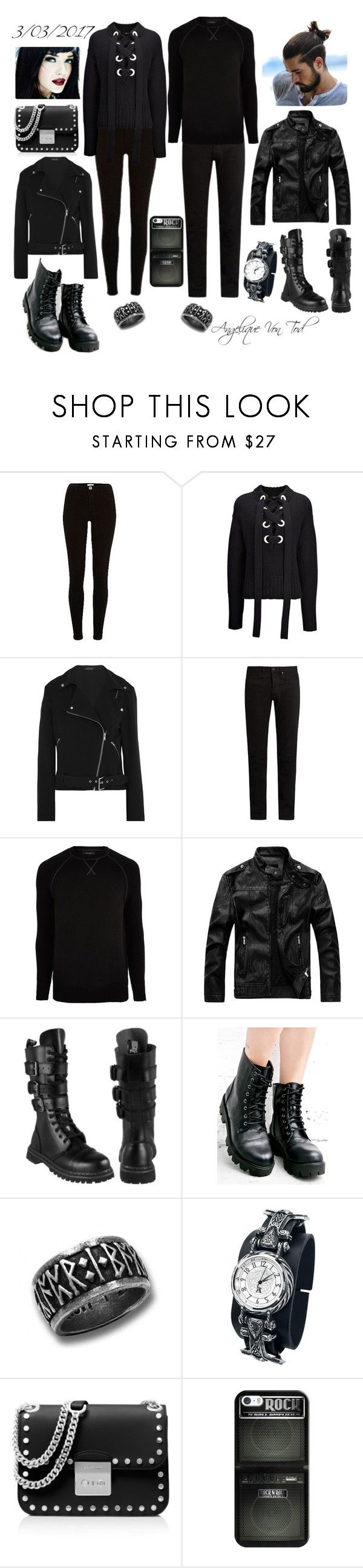 """Metal Gothic Outfit"" by angelique-von-tod ❤ liked on Polyvore featuring River Island, Joseph, Equipment, KURO, Maria ke Fisherman, MICHAEL Michael Kors and Casetify"