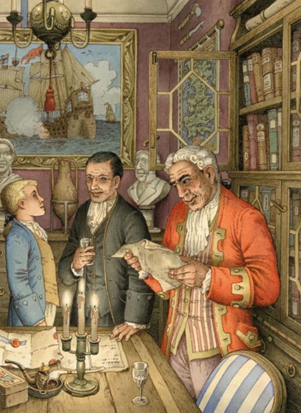 Jim, il Dott. Livesey e il Cavaliere