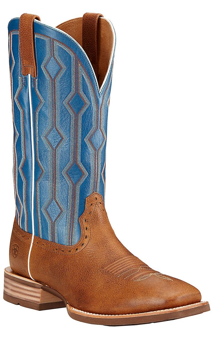 Ariat Live Wire Men's Copper Kettle with Royal Blue Double Welt Square Toe Western Boots | Cavender's