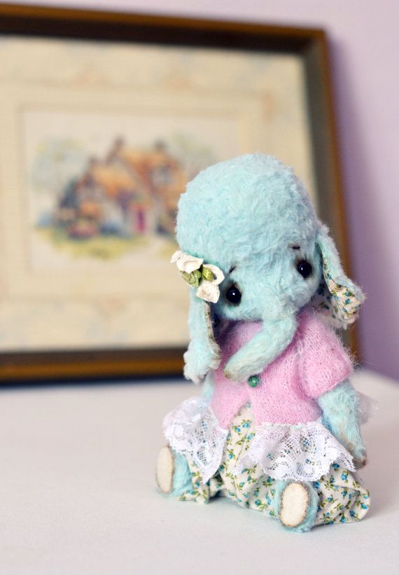 Artist teddy bear .Little elephant .OOAK. 6.6 by MilaDreamBear, €180.00: