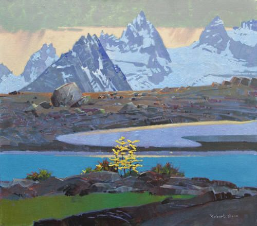 Robert Genn Artwork in Canada House Gallery From Rocky Point Ridge Bugaboos 30 x 34